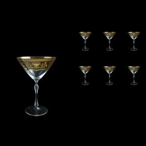Parus CMT PEGK Martini Glasses 280ml, 6 pcs in Flora´s Empire Golden Crystal (20-251B/L)
