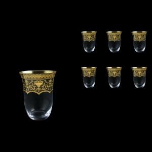 Parus B2 PEGK Whisky Glasses 350ml, 6 pcs in Flora´s Empire Golden Crystal D. (20-2502/L)