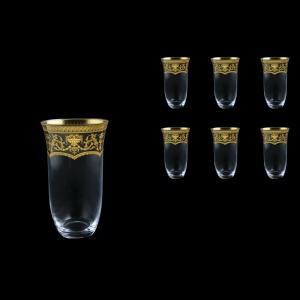 Parus B0 PEGK Water Glasses 400ml, 6 pcs in Flora´s Empire Golden Crystal D. (20-2500/L)