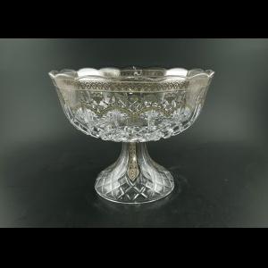 Opera MVO OESC Large Bowl d23cm 1pc in Flora´s Empire Platinum Crystal Decor (20-1/532/L)
