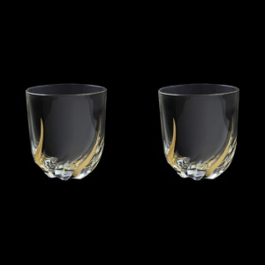 Trix B2 TCG Whisky Glasses 400ml 2pcs in Clear&Gold (1245/2)