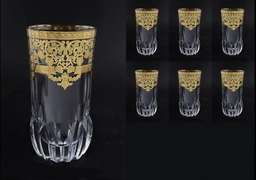 Adagio B0 F0020 Water Glasses 400ml 6pcs in Natalia Golden Crystal (F0020-0400-L)
