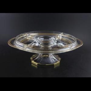 Rialto DPA REGK Five-Plate 32x36cm 1pc in Flora´s Empire Golden Crystal (20-866/L)