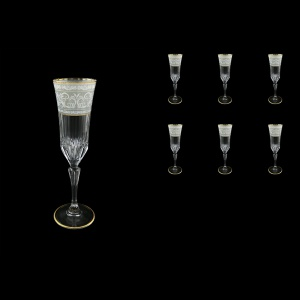 Adagio CFL A006A Champagne Flute 180ml, 6pcs, in Allegro White&Grey Light (A006A-0410-L)