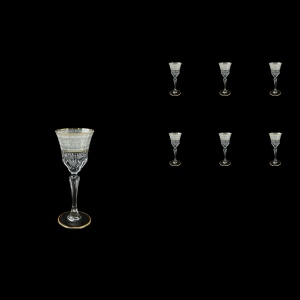 Adagio C5 A006A Liqueur Stemware 80ml, 6pcs, in Allegro White&Grey Light (A006A-0415-L)