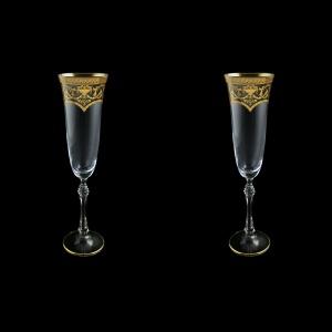 Parus CFL PEGK Champagne Flute 190ml, 2pcs in Flora´s Empire Golden Crystal (20-2510/2/L)