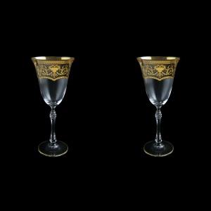 Parus C2 PEGK Wine Glasses 250ml, 2 pcs in Flora´s Empire Golden Crystal D. (20-2512/2/L)