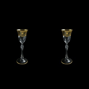 Parus C5 PEGK Liqueur Glasses 60ml, 2 pcs in Flora´s Empire Golden Crystal (20-2515/2/L)