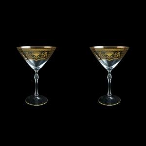 Parus CMT PEGK Martini Glasses 280ml, 2 pcs in Flora´s Empire Golden Crystal (20-251B/2/L)