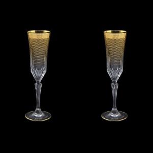 Adagio CFL F0050 Champagne Flutes 180ml 2pcs in Rio Golden Crystal Decor (F0050-0410=2)