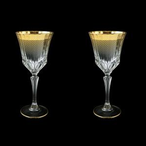 Adagio C2 F0050 Wine Glasses 280ml 2pcs in Rio Golden Crystal Decor (F0050-0412=2)