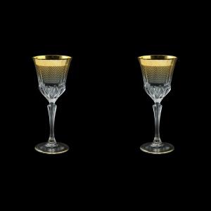Adagio C3 F0050 Wine Glasses 220ml 2pcs in Rio Golden Crystal Decor (F0050-0413=2)