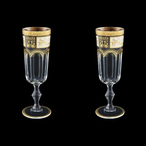 Provenza CFL F0016 Champagne Flute 160ml 2pcs in Diadem Golden Black (F0016-0010=2)