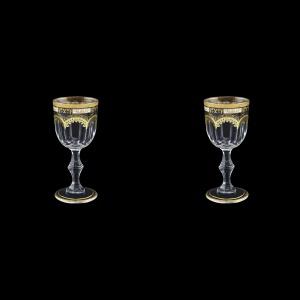 Provenza C5 F0016 Liqueur Glasses 50ml 2pcs in Diadem Golden Black (F0016-0015=2)