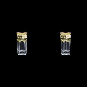 Provenza B5 F0016 Liqueur Tumblers 50ml 2pcs in Diadem Golden Black (F0016-0005=2)