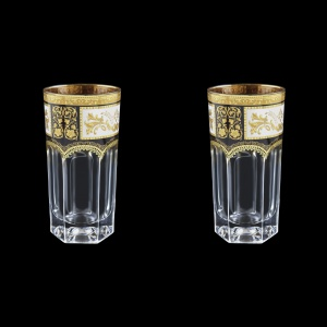 Provenza B0 F0016 Water Glasses 370ml 2 pcs in Diadem Golden Black (F0016-0000=2)