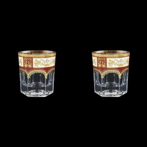 Provenza B2 F0012 Whisky Glasses 280ml 2pcs in Diadem Golden Red (F0012-0002=2)