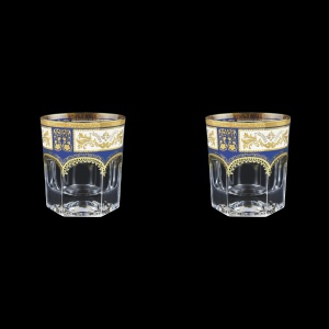 Provenza B2 F0013 Whisky Glasses 280ml 2pcs in Diadem Golden Blue (F0013-0002=2)