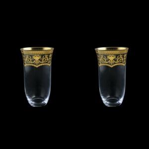 Parus B0 PEGK Water Glasses 400ml, 2 pcs in Flora´s Empire Golden Crystal (20-2500/2/L)