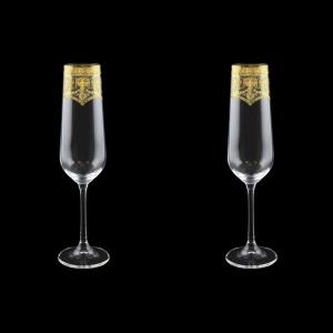 Strix CFL SELK Champagne Flute in Flora´s Empire G. Crystal L, 200ml, 2pcs (20-2210/2/L)