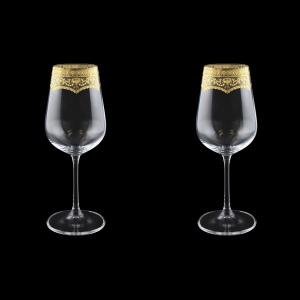 Strix C3 SELK White Wine Glasses in Flora´s Empire G. Crystal L,360ml,2pcs (20-2213/2/L)