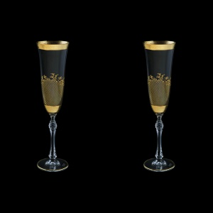 Parus CFL F0070 Champagne Flute 190ml, 2pcs in Rocco Golden Embossed D. (F0070-2510-L=2)