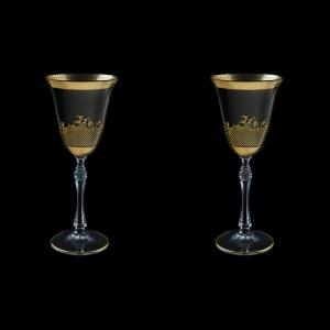 Parus C3 F0070 Wine Glasses 185ml, 2 pcs in Rocco Golden Embossed Decor (F0070-2513-L=2)