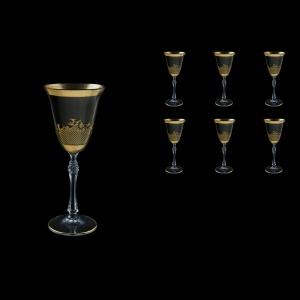 Parus C3 F0070 Wine Glasses 185ml, 6 pcs in Rocco Golden Embossed Decor (F0070-2513-L)