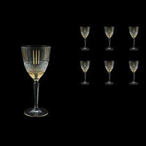 Brillante C2 A00GG Wine Glasses 290ml, 6pcs in Gold+KCR (A00GG-0C12-KCR)