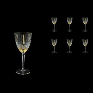 Brillante C3 A00GG Wine Glasses 230ml, 6pcs in Gold+KCR (A00GG-0C13-KCR)