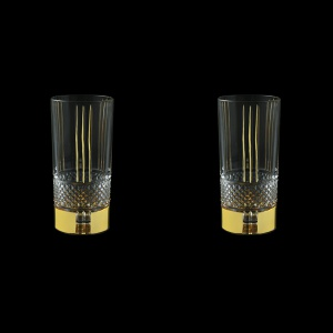Brillante B0 A00GG Water Glasses 370ml, 2pcs in Gold+KCR (A00GG-0C00-KCR=2)