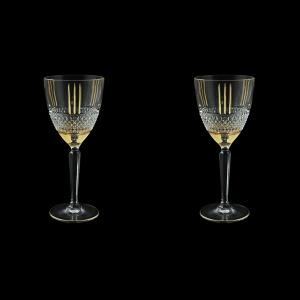Brillante C2 A00GG Wine Glasses 290ml, 2pcs in Gold+KCR (A00GG-0C12-KCR=2)