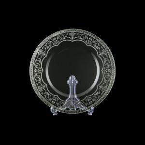 Rialto CP RESK Cake Plate d35cm 1pc in Flora´s Empire Platinum Crystal L. (20-1/932/L)