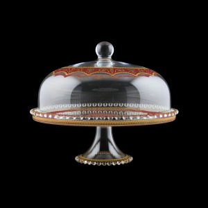 Zefyros SPY ZEGR Serving Plate d32cm, 1pc in Flora´s Empire Golden Red L. (22-5E0H/L)