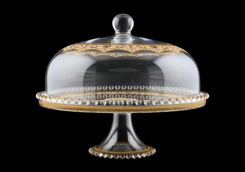 Zefyros SPY ZEGI Serving Plate d32cm, 1pc in Flora´s Empire Golden Ivory L. (25-5E0H/L)