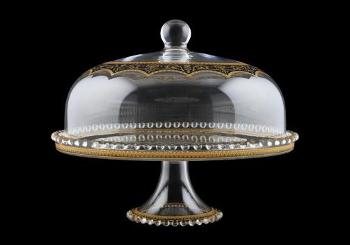 Zefyros SPY ZEGB Serving Plate d32cm, 1pc in Flora´s Empire Golden Black L. (26-5E0H/L)