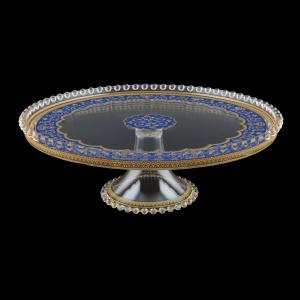 Zefyros CPY ZEGC Cake Plate d32cm, 1pc in Flora´s Empire Golden Blue L. (23-5E75/L)