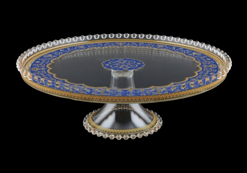 Zefyros CPY ZEGC Cake Plate d32cm, 1pc in Flora´s Empire Golden Blue L. (23-5E75/L)