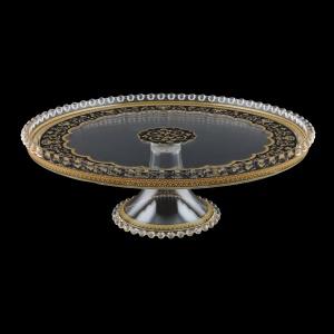 Zefyros CPY ZEGB Cake Plate d32cm, 1pc in Flora´s Empire Golden Black L. (26-5E75/L)