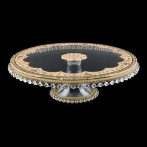 Zefyros CPY ZEGI Cake Plate Down d32cm, 1pc in Flora´s Empire Golden Ivory L. (25-5E71/L)
