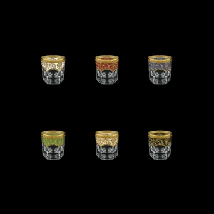 Provenza B3 PEG6 Whisky Glasses 185ml 6pcs in Flora´s E. G. 6 clrs (21/22/23/24/25/26-526)