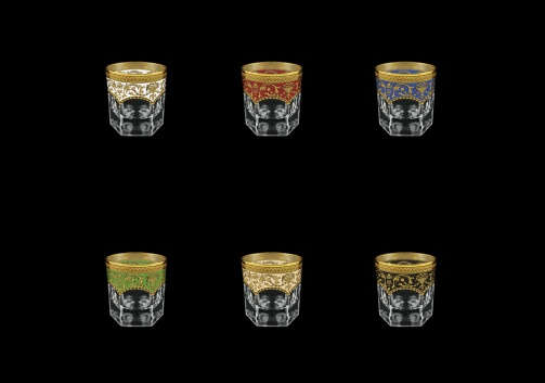 Provenza B3 PEG6 Whisky Glasses 185ml 6pcs in Flora´s E. G. 6 clrs (21/22/23/24/25/26-526)