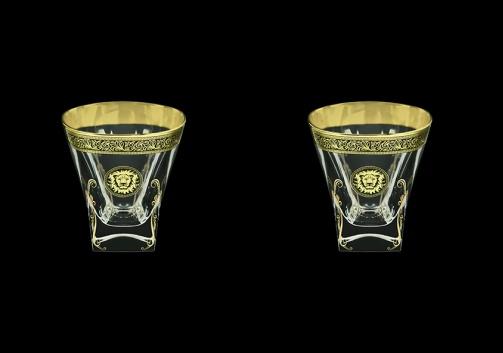 Fusion B2 FOGB H Whisky Glasses 270ml 2pcs in Lilit&Leo Golden Black Decor+H (41-397/2/H)