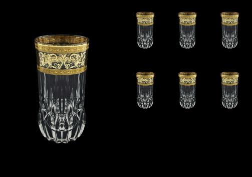 Adagio B0 AALK Water Glasses 400ml 6pcs in Allegro Golden Light Decor (65-647/L)