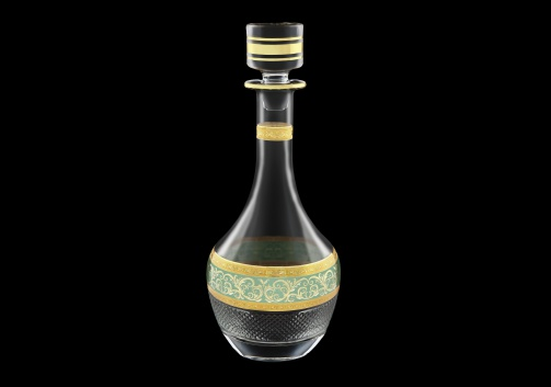 Fiesole RD FALT Round Decanter 900ml 1pc in Allegro Golden Turquoise Light D. (6T-837/L)