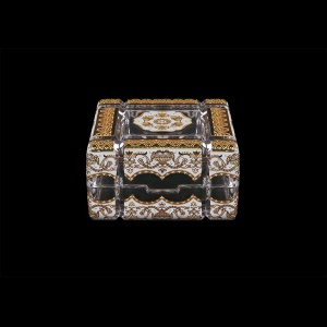 Scatola Cuba CEGW 10cm 1pc in Flora´s Empire Golden White Decor (21-243)