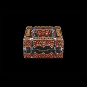 Scatola Cuba CEGR 10cm 1pc in Flora´s Empire Golden Red Decor (22-243)