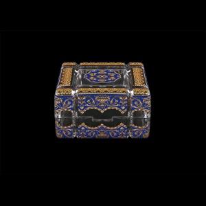 Scatola Cuba CEGC 10cm 1pc in Flora´s Empire Golden Blue Decor (23-243)
