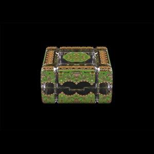 Scatola Cuba CEGG 10cm 1pc in Flora´s Empire Golden Green Decor (24-243)