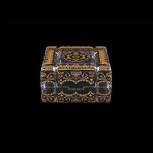 Scatola Cuba CEGB 10cm 1pc in Flora´s Empire Golden Black Decor (26-243)